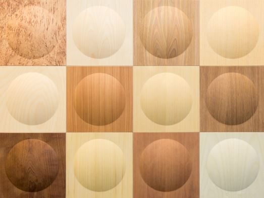 Haptic wooden surfaces.
