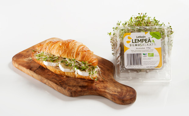 Silmusalaatti package and filled croissant.