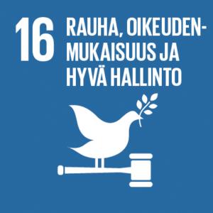 16. Rauha, oikeudenmukaisuus ja hyvä hallinto