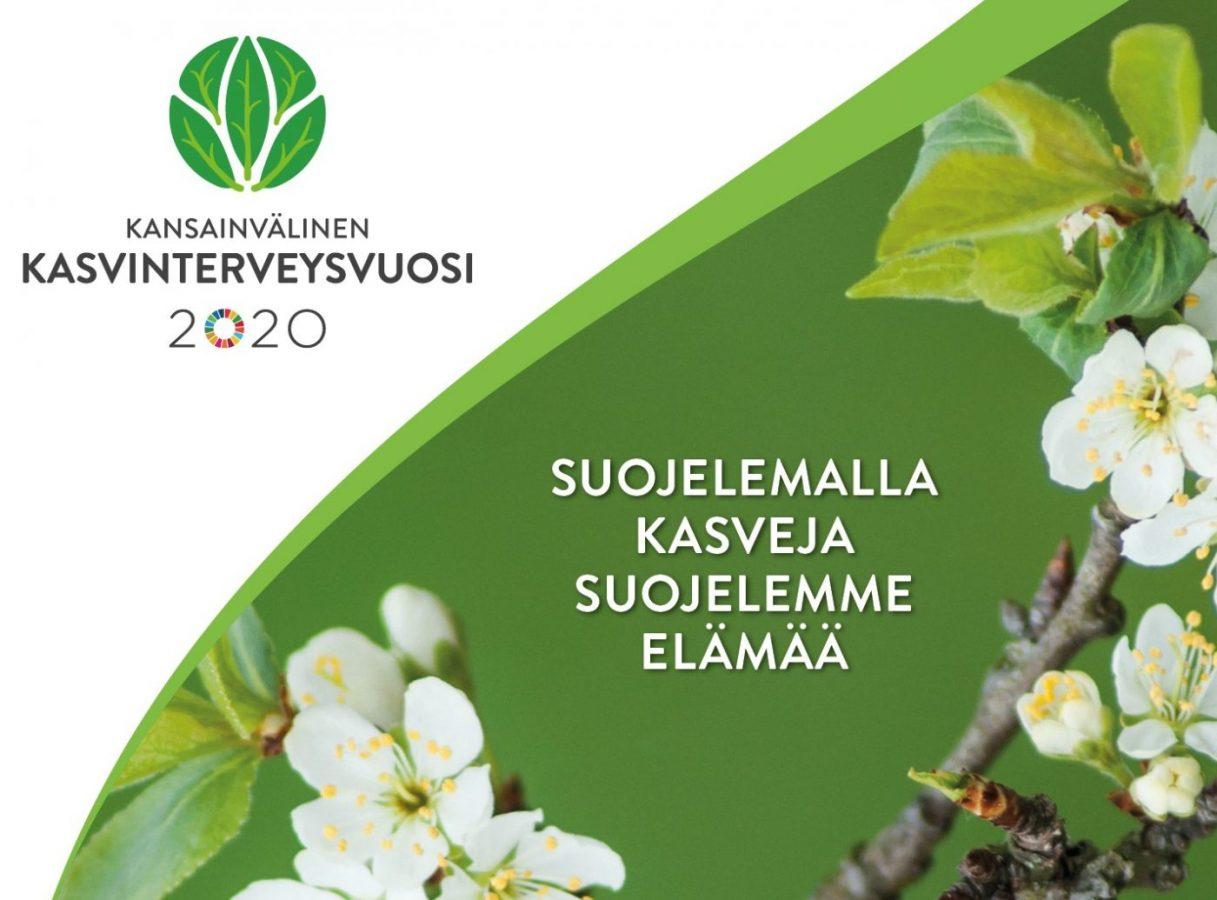 Kasvinterveysvuosi 2020. Suojelemalla kasveja suojelemme elämää.